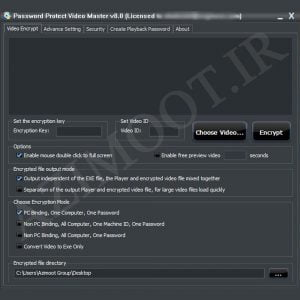 Password Protect Video Master تکثیر غیر مجاز