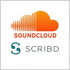 اکانت scribd و soundcloud